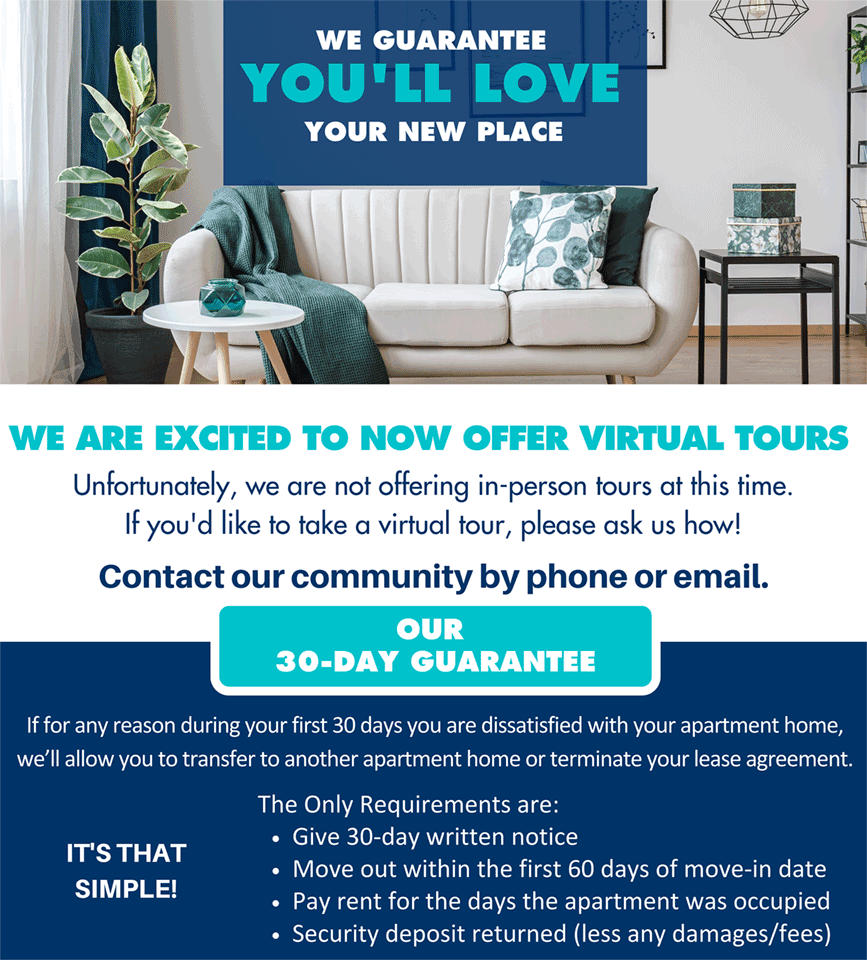 We Are Excited to Now Offer Virtual Tours
